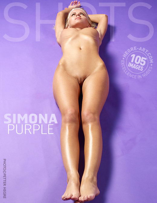 Simona - `Purple` - by Petter Hegre for HEGRE-ART