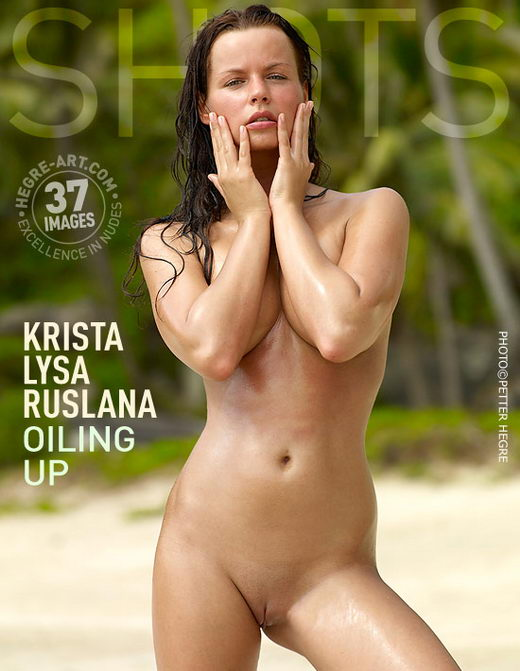 Krista & Lysa & Ruslana - `Oiling Up` - by Petter Hegre for HEGRE-ART