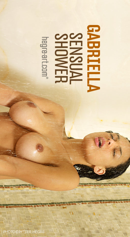 Gabriella - `Sensual Shower` - by Petter Hegre for HEGRE-ART