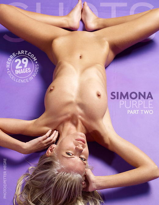 Simona - `Purple Part 2` - by Petter Hegre for HEGRE-ART