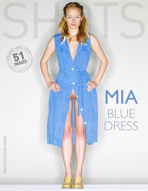 Mia - `Blue Dress` - by Petter Hegre for HEGRE-ART