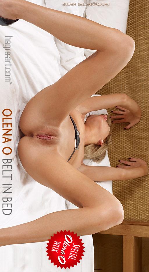 Olena O - `Belt In Bed` - by Petter Hegre for HEGRE-ART