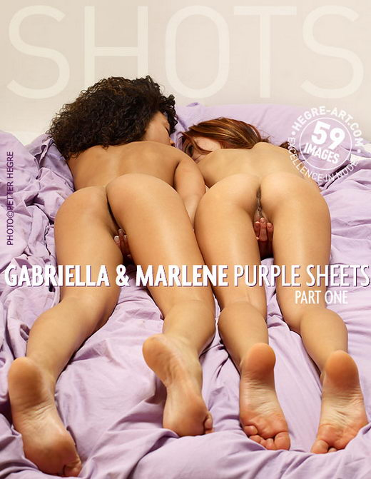 Gabriella & Marlene - `Purple Sheets - Part1` - by Petter Hegre for HEGRE-ART