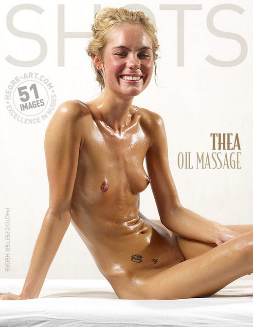 Thea - `Oil Massage` - by Petter Hegre for HEGRE-ART