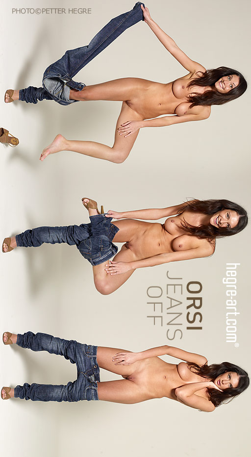 Orsi - `Jeans Off` - by Petter Hegre for HEGRE-ART