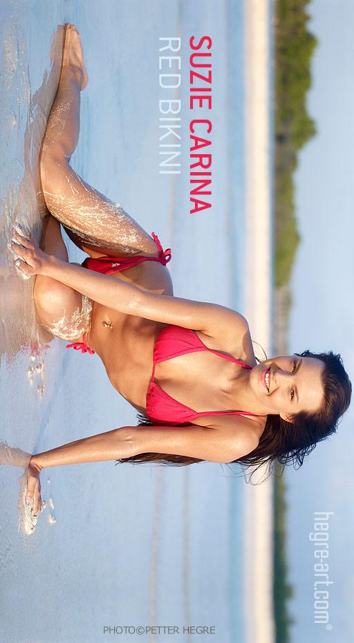 Suzie Carina - `Red Bikini` - by Petter Hegre for HEGRE-ART