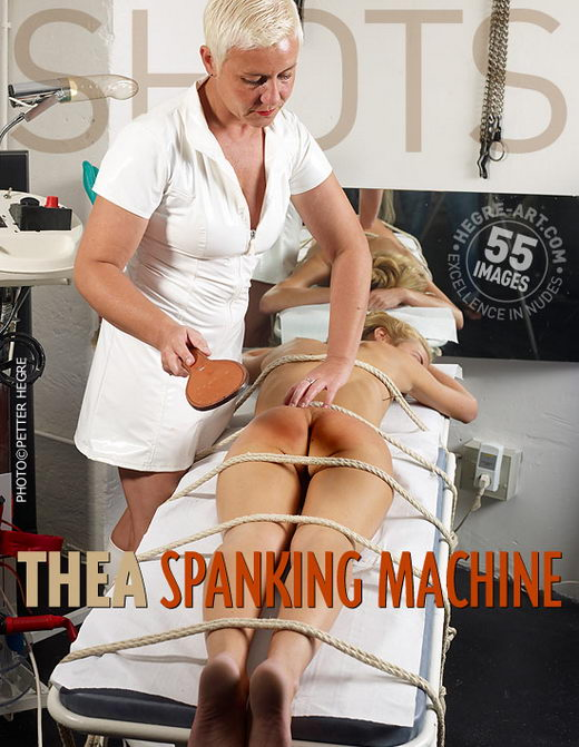 Thea - `Spanking Machine` - by Petter Hegre for HEGRE-ART