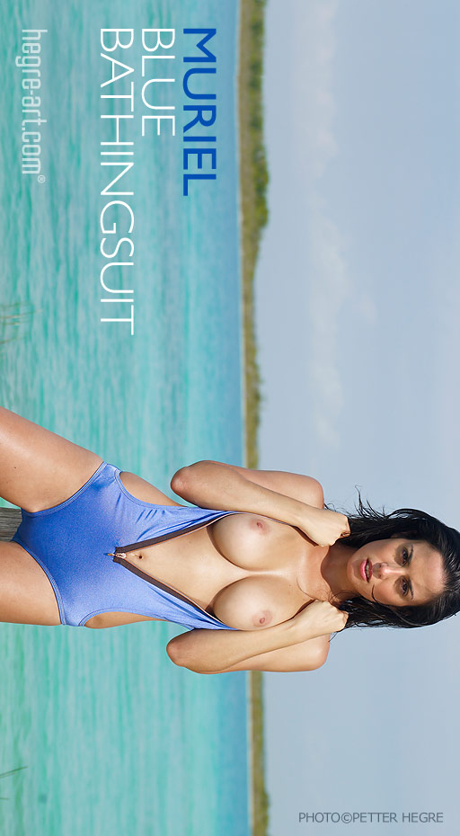 Muriel - `Blue Bathingsuit` - by Petter Hegre for HEGRE-ART