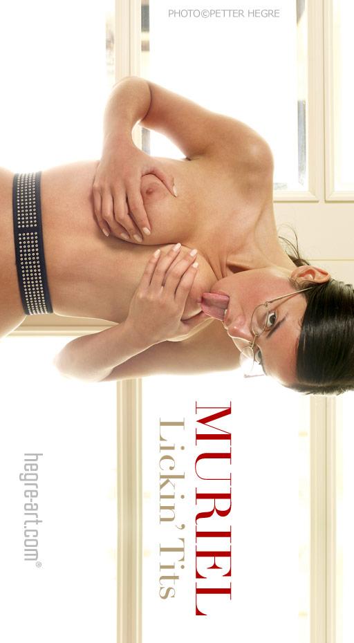 Muriel - `Lickin Tits` - by Petter Hegre for HEGRE-ART