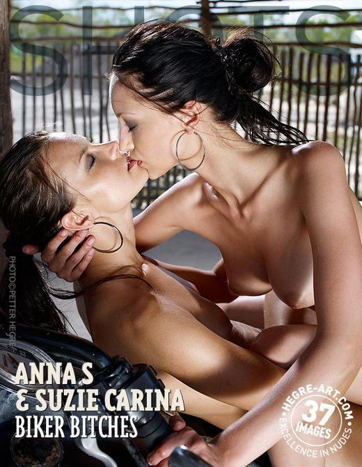 Anna S & Suzie Carina - `Biker Bitches` - by Petter Hegre for HEGRE-ART