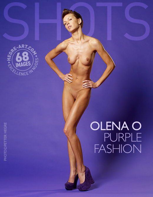 Olena O - `Purple Fashion` - by Petter Hegre for HEGRE-ART