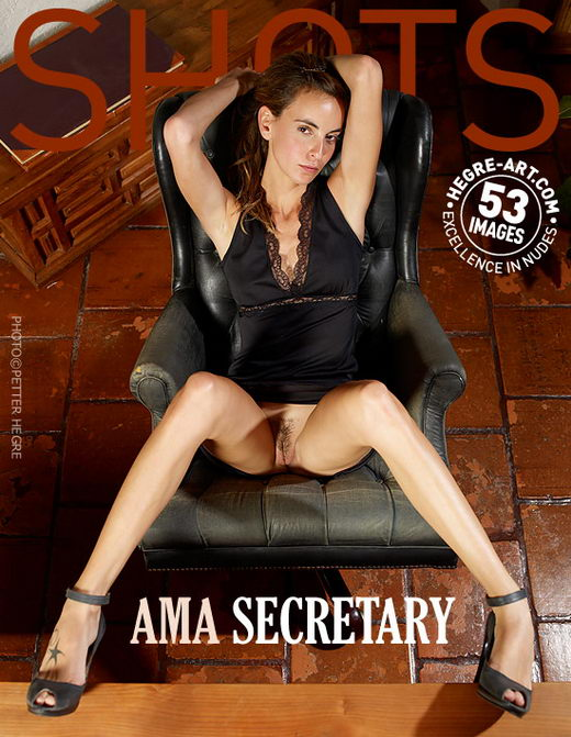 Ama - `Secretary` - by Petter Hegre for HEGRE-ART