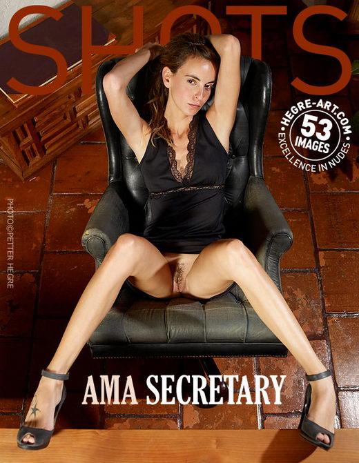 Ama - `Secretary` - by Petter Hegre for HEGRE-ART
