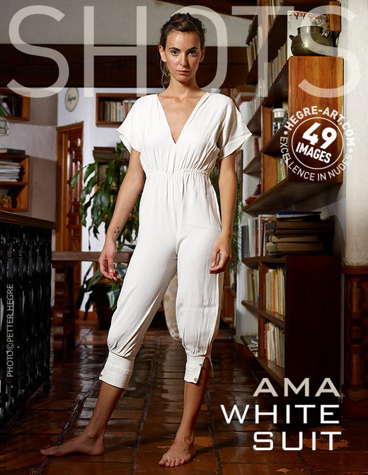 Ama - `White Suit` - by Petter Hegre for HEGRE-ART