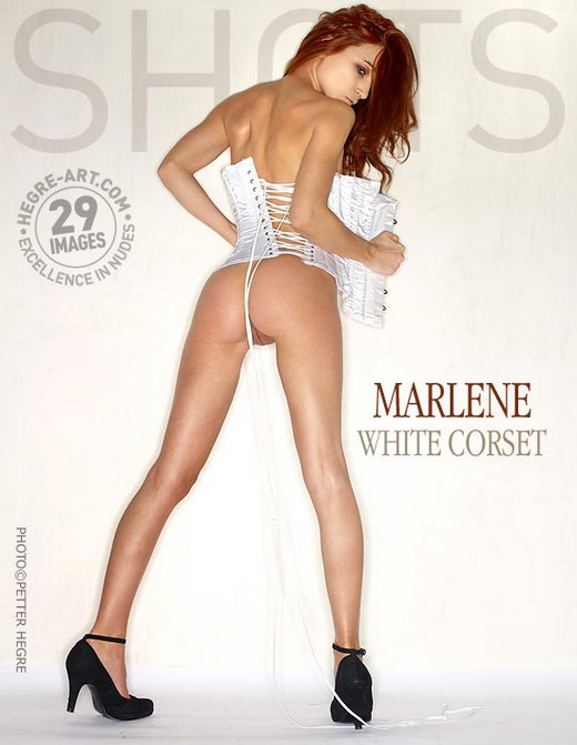 Marlene - `White Corset` - by Petter Hegre for HEGRE-ART