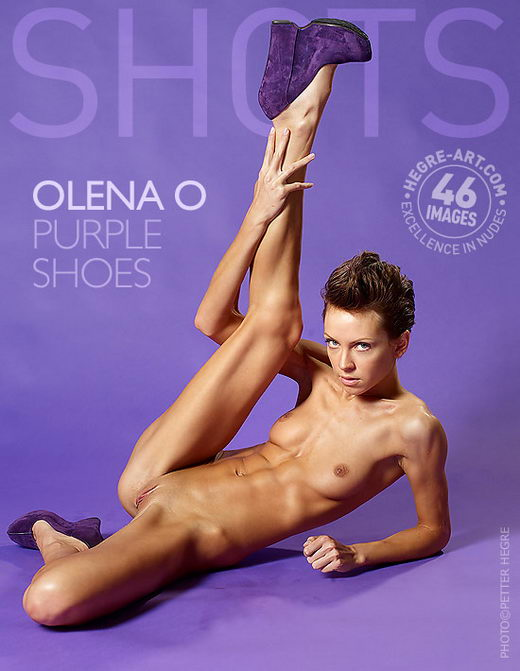 Olena O - `Purple Shoes` - by Petter Hegre for HEGRE-ART