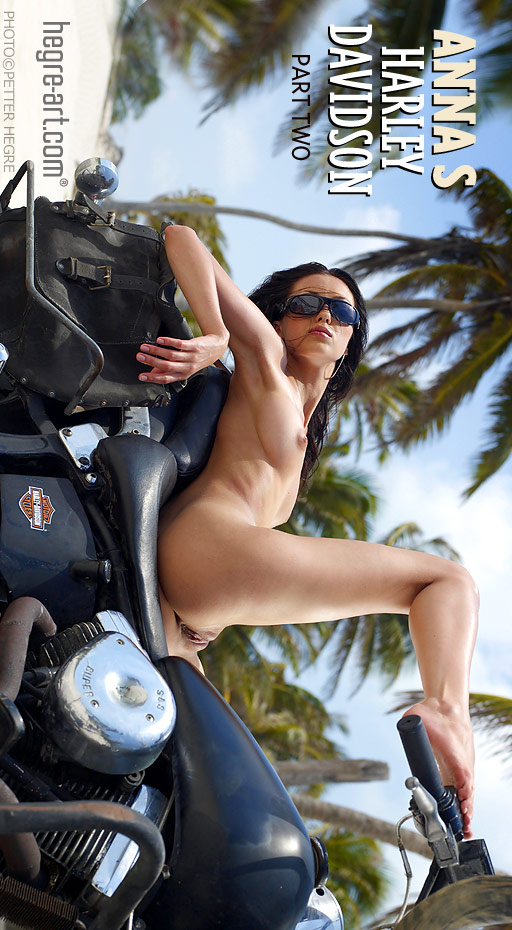 Anna S - `Harley Davidson - Part 2` - by Petter Hegre for HEGRE-ART