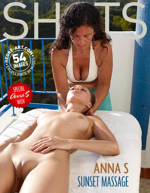 Anna S - `Sunset Massage` - by Petter Hegre for HEGRE-ART