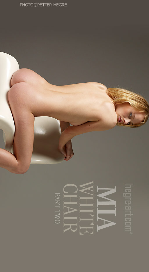 Mia - `White Chair - Part 2` - by Petter Hegre for HEGRE-ART