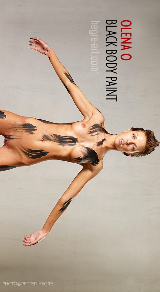 Olena O - `Black Body Paint` - by Petter Hegre for HEGRE-ART
