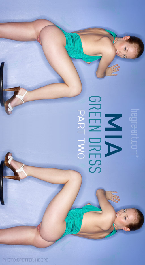 Mia - `Green Dress - Part 2` - by Petter Hegre for HEGRE-ART