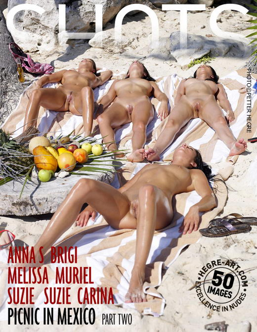 Anna S & Brigi & Melissa & Muriel & Suzie & Suzie Carina - `Picnic In Mexico - Part 2` - by Petter Hegre for HEGRE-ART