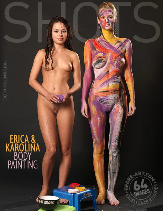 Erica And Karolina - `Body Painting` - by Petter Hegre for HEGRE-ART