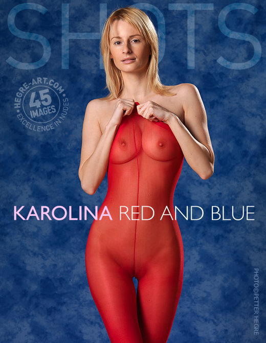 Karolina - `Red And Blue` - by Petter Hegre for HEGRE-ART