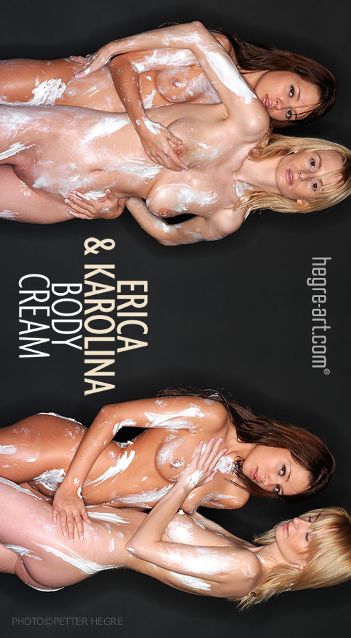 Erica & Karolina - `Body Cream` - by Petter Hegre for HEGRE-ART