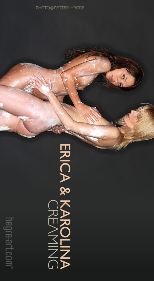 Erica & Karolina - `Creaming` - by Petter Hegre for HEGRE-ART