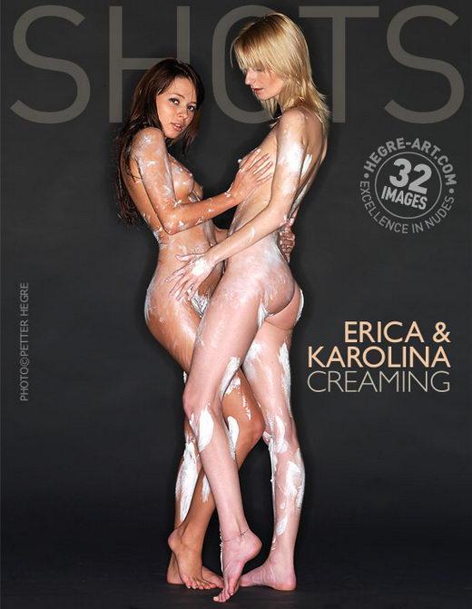 Erica & Karolina - `Creaming` - by Petter Hegre for HEGRE-ART
