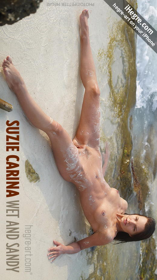 Suzie Carina - `Wet And Sandy` - by Petter Hegre for HEGRE-ART