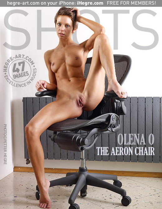 Olena O - `The Aeron Chair` - by Petter Hegre for HEGRE-ART