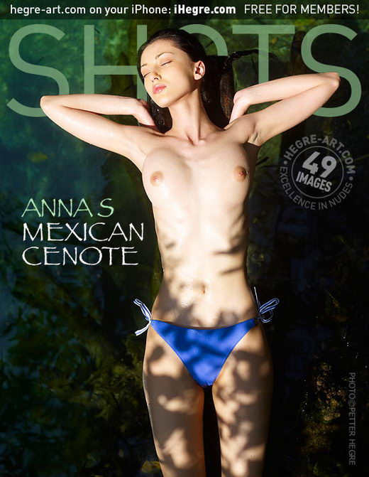 Anna S - `Mexican Cenote` - by Petter Hegre for HEGRE-ART