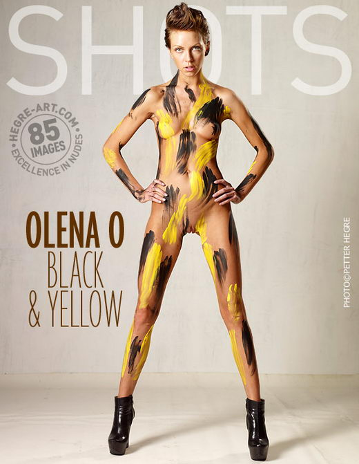 Olena O - `Black And Yellow` - by Petter Hegre for HEGRE-ART