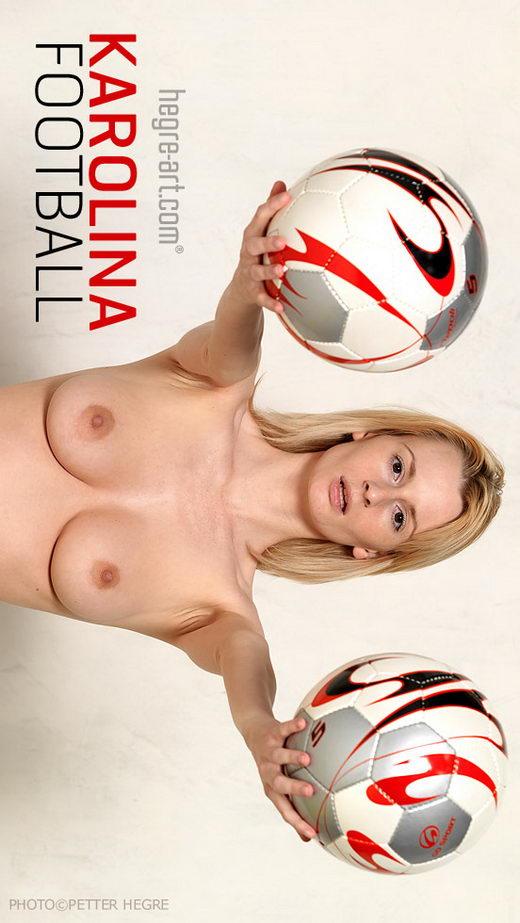 Karolina - `Football` - by Petter Hegre for HEGRE-ART