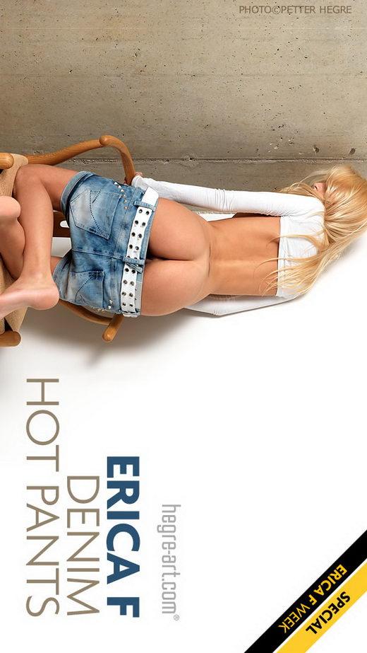 Erica F - `Denim Hot Pants` - by Petter Hegre for HEGRE-ART