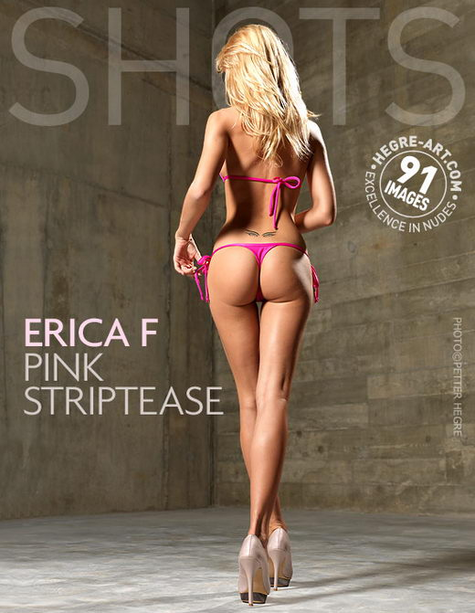 Erica F - `Pink Striptease` - by Petter Hegre for HEGRE-ART