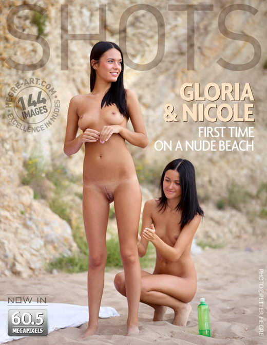 Gloria & Nicole - `First Time On A Nude Beach` - by Petter Hegre for HEGRE-ART