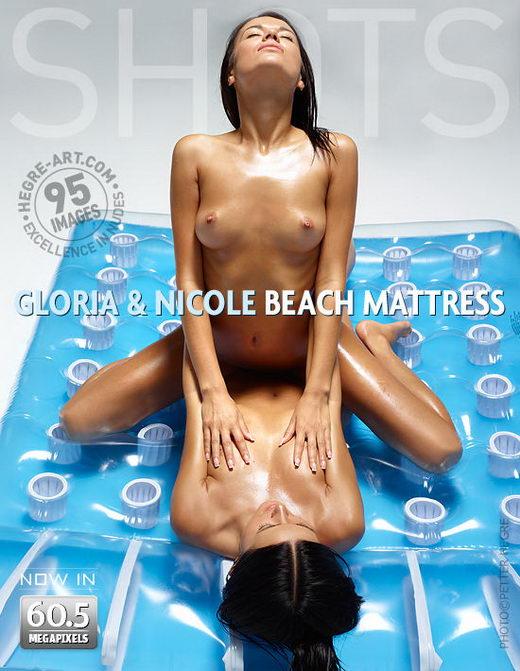 Gloria & Nicole - `Beach Mattress` - by Petter Hegre for HEGRE-ART