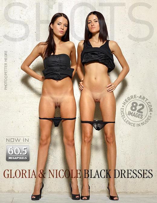 Gloria & Nicole - `Black Dresses` - by Petter Hegre for HEGRE-ART