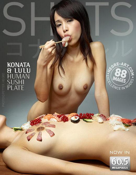 Konata & Lulu - `Human Sushi Plate` - by Petter Hegre for HEGRE-ART