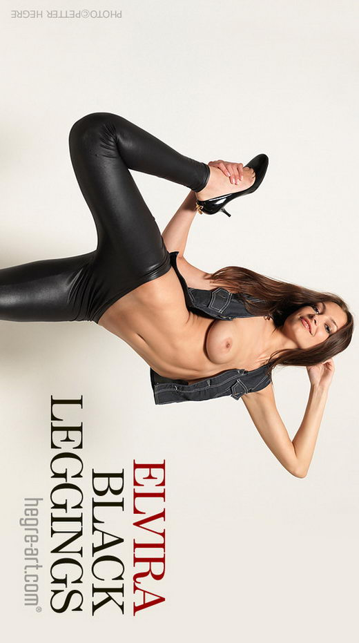 Elvira - `Black Leggings` - by Petter Hegre for HEGRE-ART