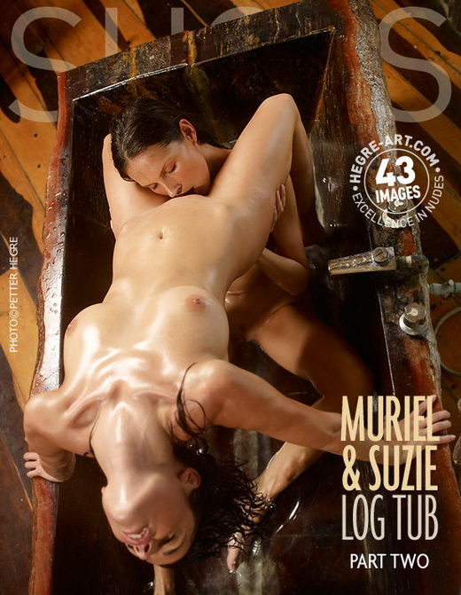 Muriel & Suzie - `Log Tub - Part 2` - by Petter Hegre for HEGRE-ART