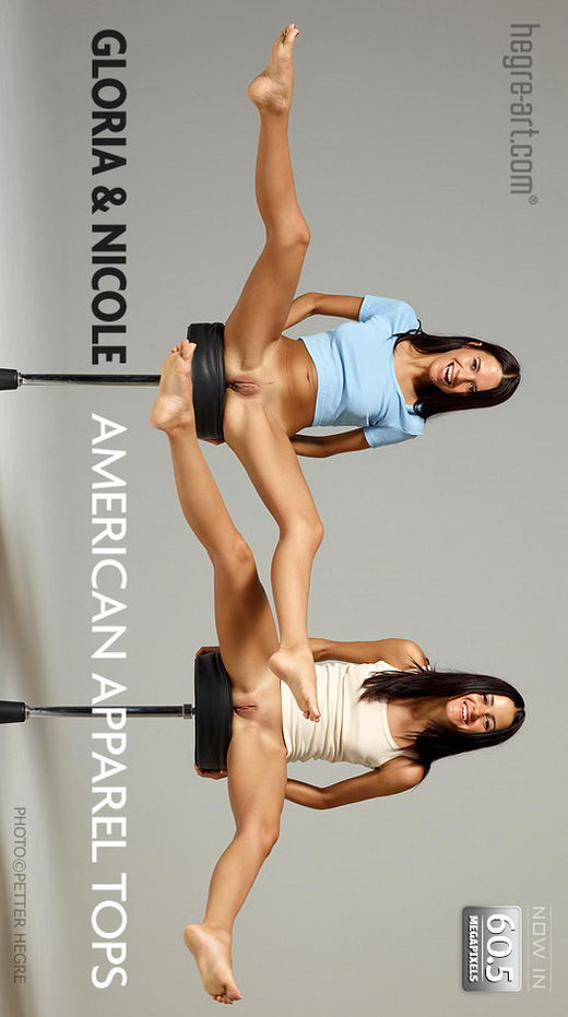 Gloria & Nicole - `American Apparel Topps` - by Petter Hegre for HEGRE-ART