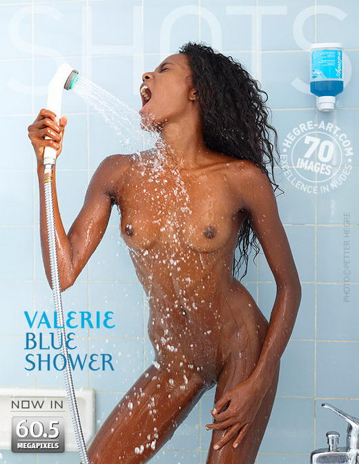 Valerie - `Blue Shower` - by Petter Hegre for HEGRE-ART