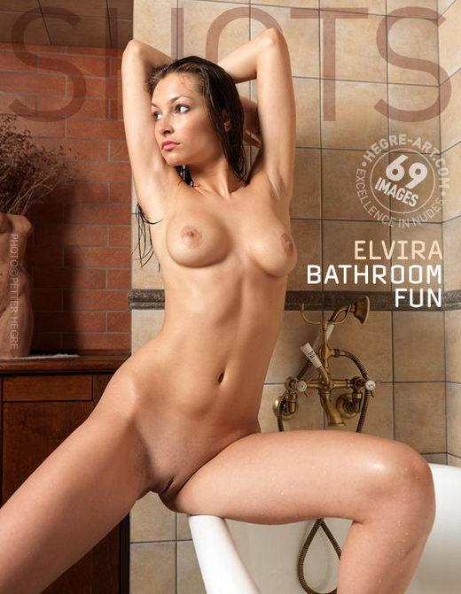 Elvira - `Bathroom Fun` - by Petter Hegre for HEGRE-ART