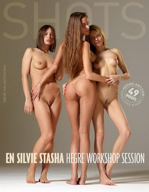En & Silvie & Stasha - `Workshop Session` - by Petter Hegre for HEGRE-ART