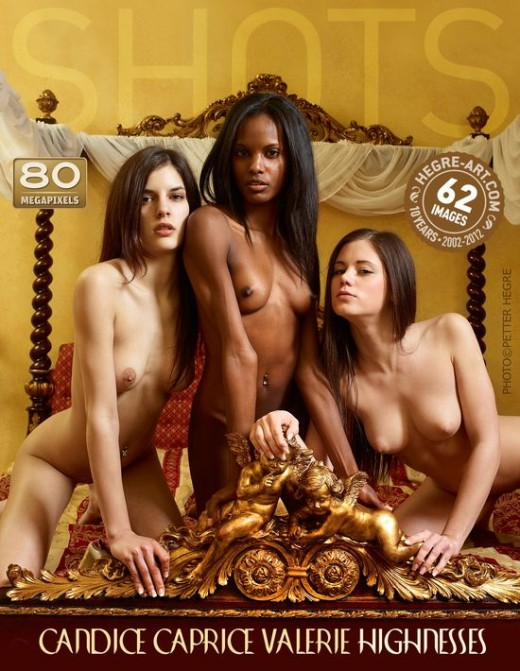 Candice & Caprice & Valerie - `Highnesses` - by Petter Hegre for HEGRE-ART