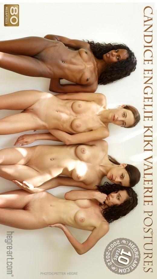 Candice & Engelie & Kiki & Valerie - `Postures` - by Petter Hegre for HEGRE-ART